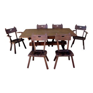 1930s Spanish Monterey Dining Table Set For Sale