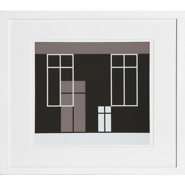 Josef Albers Josef Albers - Portfolio 1, Folder 21, Image 2 Framed Silkscreen For Sale - Image 4 of 4