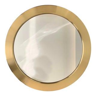 Scandinavian Glasmäster Markaryd Mid Century Brass Mirror For Sale