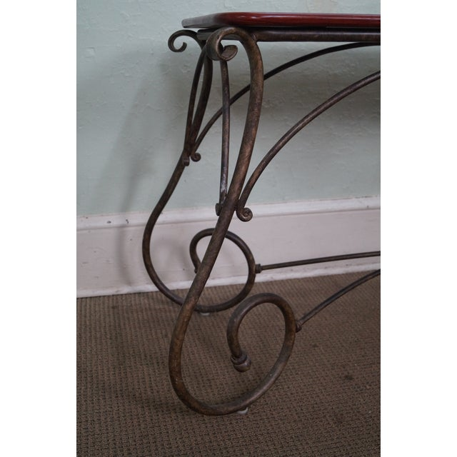 Brown Jordan Tuscan Style Console Table - Image 7 of 10
