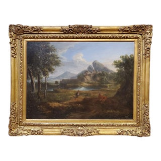 17th Century Italian Landscape Oil Painting Attributed to Gaspard Dughet For Sale