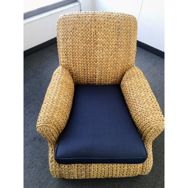 Blue Ralph Lauren Hurley Club Chair For Sale - Image 8 of 13