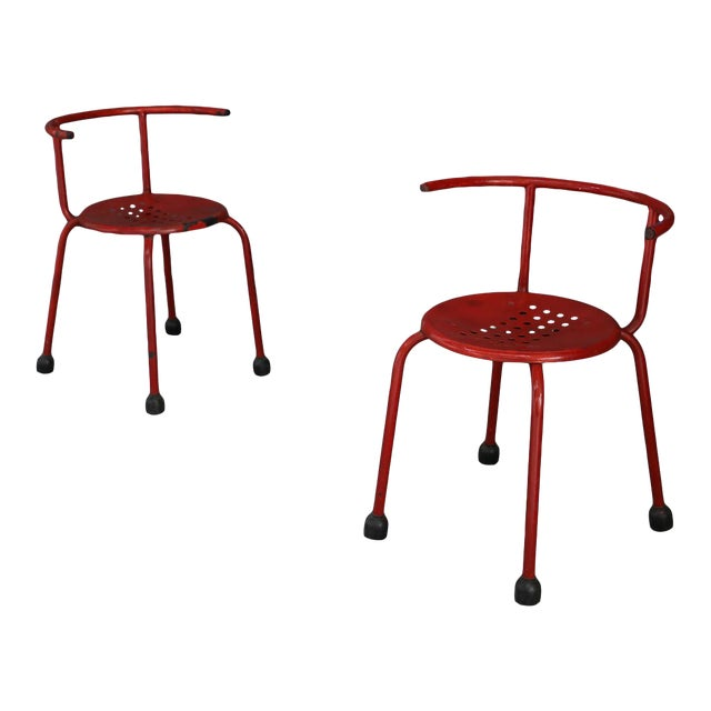 Ettore Sottsass Outdoor Chairs Steel Armchair For Sale