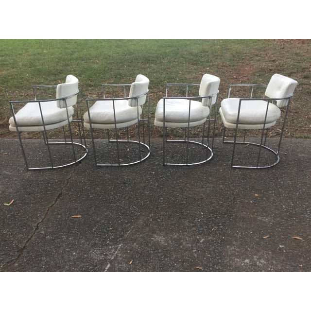 Thayer Coggin Chrome Chairs and Base - Image 5 of 11