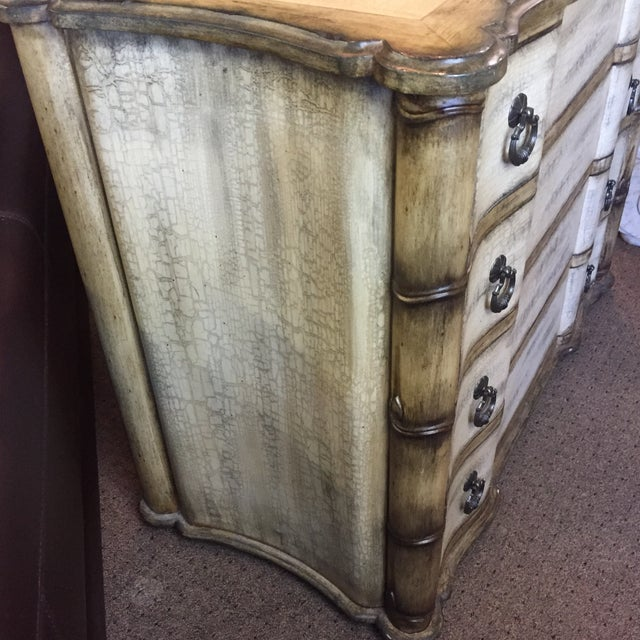 Baers Antique White Crackle Paint Four Drawer Chest For Sale In West Palm - Image 6 of 6