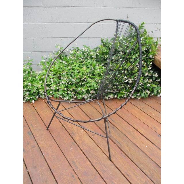 Mid-Century Modern Iron Acapulco Chair - Image 2 of 5