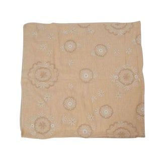 Linen Table Cloth with Floral Design For Sale