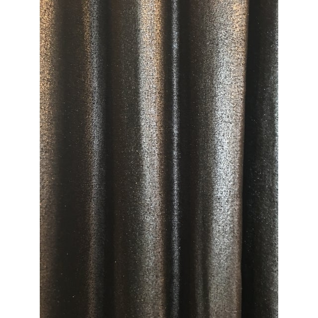 Contemporary Metallic Charcoal & Bronze Drapes - Set of 5 For Sale - Image 3 of 6