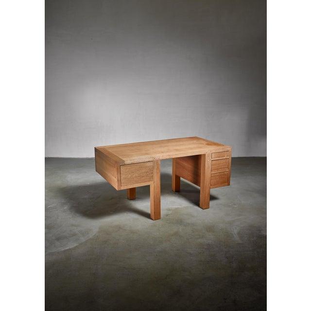 Jean Touret Jean Touret Oak Desk for Marolles, France, 1950s For Sale - Image 4 of 5