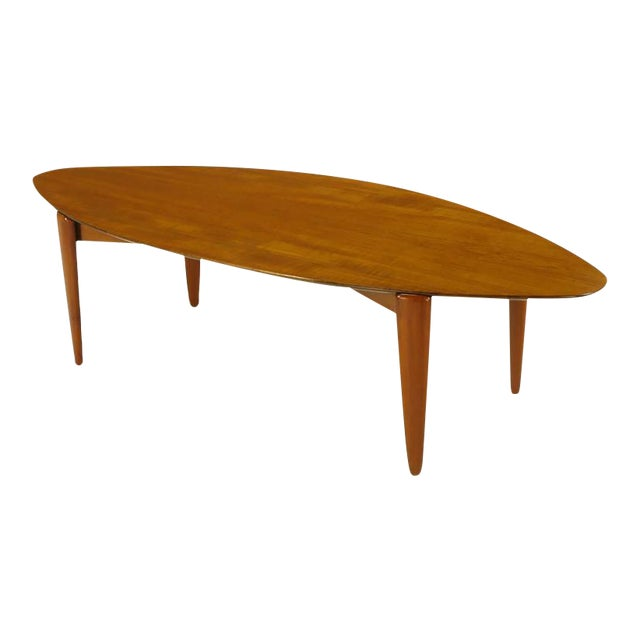Double Parabola Teak Coffee Table in the Manner of Finn Juhl - Image 1 of 8