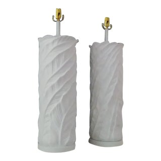 1950s Plaster Table Lamps - a Pair For Sale