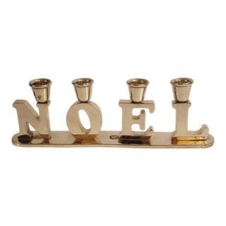 Vintage Godinger Silver Co. Christmas Noel Candle Holder For Sale