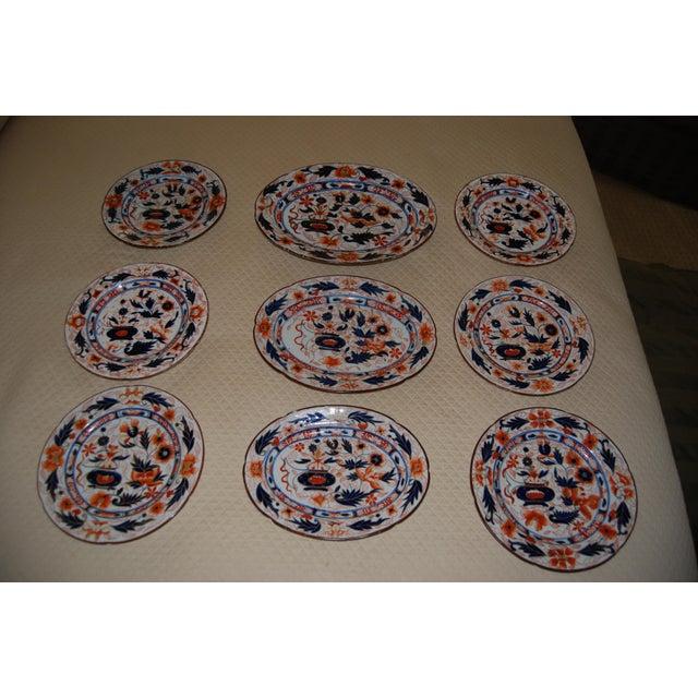 Antique English Ironstone Platters & Dishes - Set of 9 - Image 2 of 6