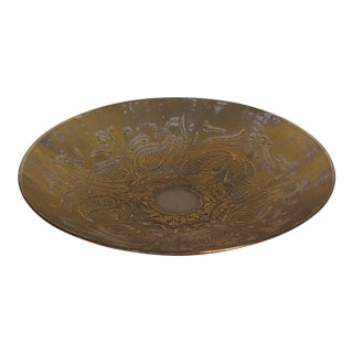 Dorothy Thorpe Gold Etched Bowl