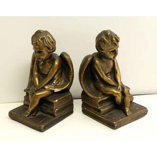 Vintage Plaster Angel Bookends - a Pair Preview