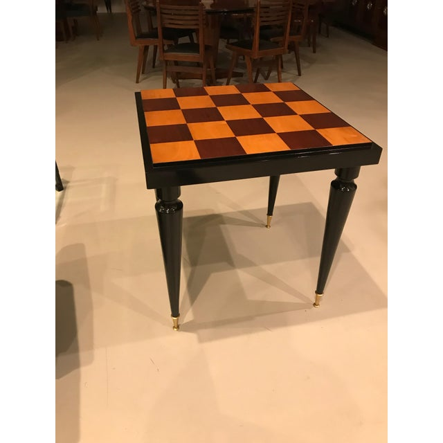 1940s French Art Deco Ebony Game Table or Centre Table For Sale - Image 9 of 11