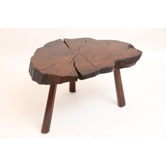 Vintage Tree Trunk Table For Sale - Image 12 of 13