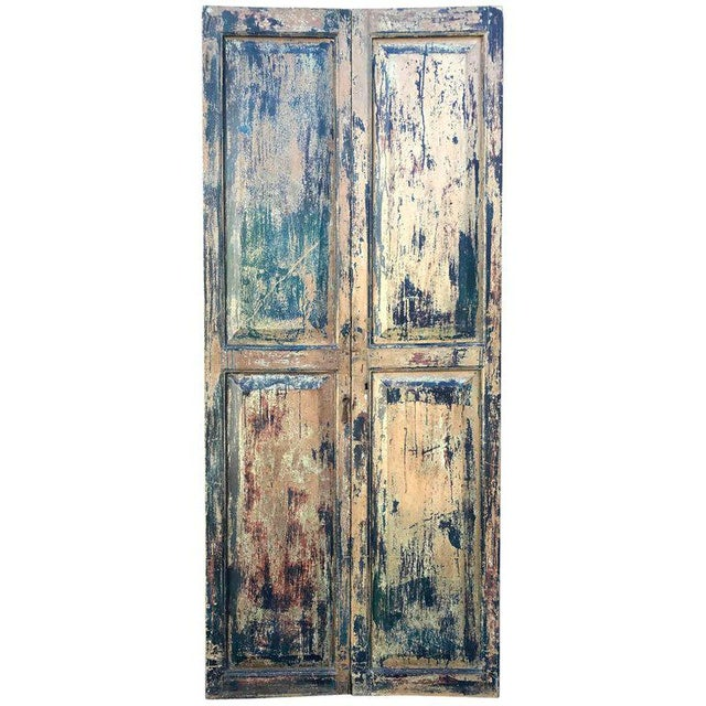 Pair of 19th Century Painted Doors For Sale - Image 9 of 9