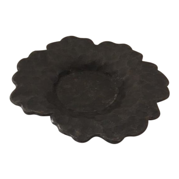 Hammered Cast Iron Trinket Bowl - Image 1 of 6