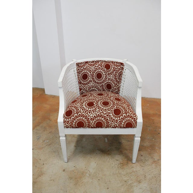 Mid-Century Modern Mid-Century Rust & White Side Chairs - a Pair For Sale - Image 3 of 8