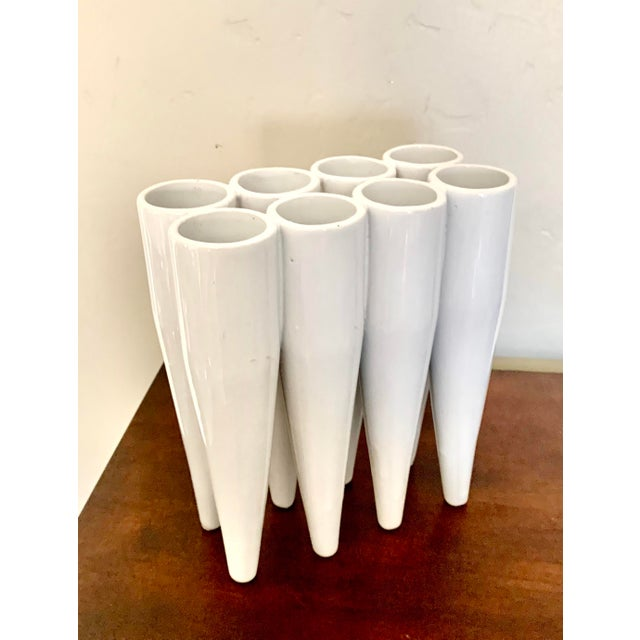 This unusual vase is perfect for modern, contemporary and minimalist settings. It is one piece divided into 8 sections, so...
