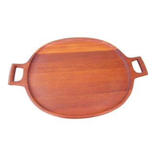 1960s Large Teakwood Dansk Tray by Jens Quistgaard For Sale