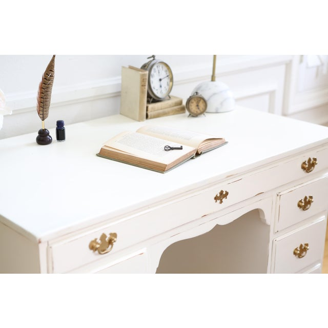 Shabby Chic Vintage Whitney Solid Wood Desk - Image 5 of 11