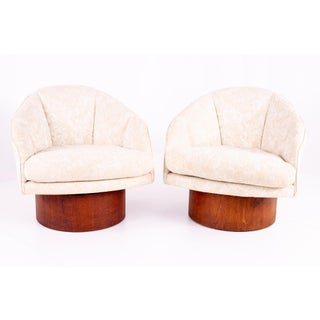Mid Century Adrian Pearsall Barrel Lounge Chairs - Pair Preview