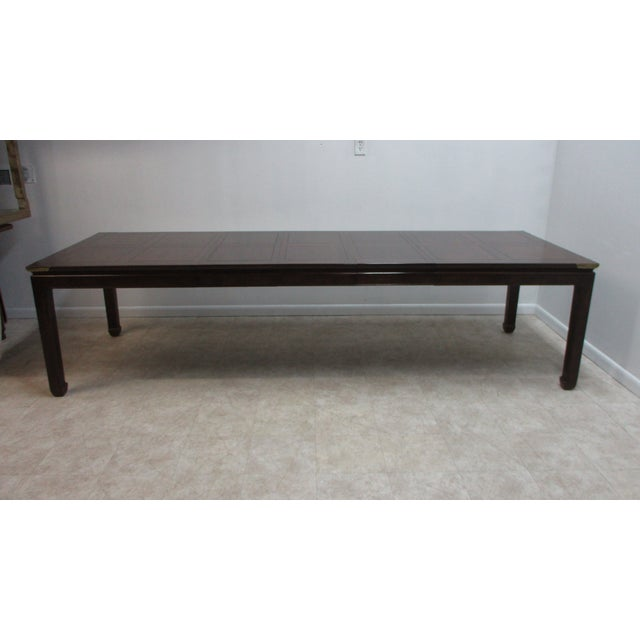 Chippendale Henredon Pan Asian Dining Room Conference Table For Sale - Image 10 of 13