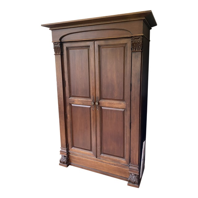 Thomasville Solid Wood Armoire in Condition For Sale