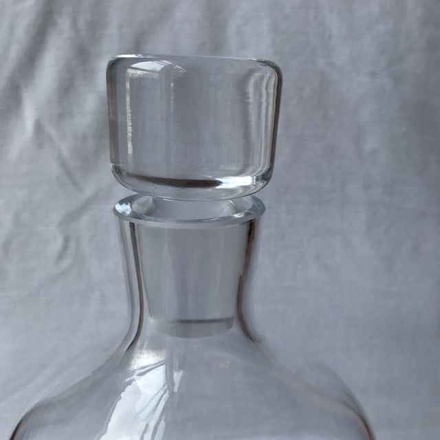 Mid-Century Modern Vintage Modern Glass Decanter For Sale - Image 3 of 5