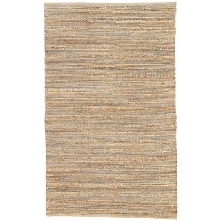 Jaipur Living Canterbury Natural Solid Beige/ Blue Area Rug - 3′6″ × 5′6″ For Sale