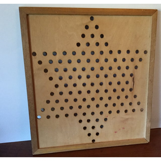 Vintage Wooden Chinese Checkers Board - Image 10 of 11