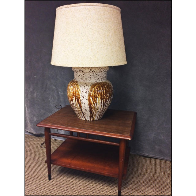 Mid-Century Modern Art Pottery Table Lamp - Image 6 of 11