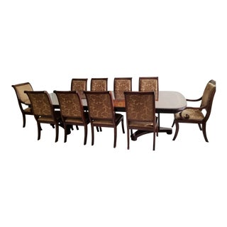 Modern Henredon Natchez Collection Dining Table and Chairs- 11 Pieces For Sale