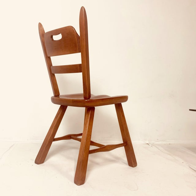 Mid 20th Century Set of 6 Cushman Vermont Rock Maple Dining Chairs Designed by Herman DeVries For Sale - Image 5 of 13