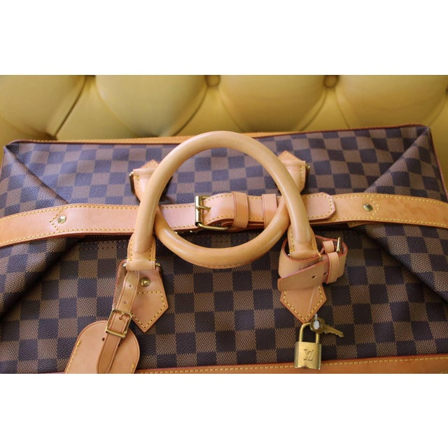 Animal Skin Special Edition Louis Vuitton Travel Bag, Damier Canvas For Sale - Image 7 of 12
