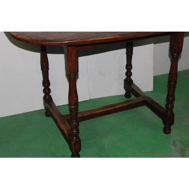 English Country Walnut Table - Image 3 of 5
