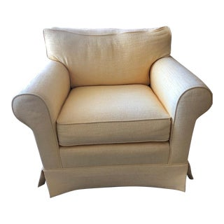 Oversize Light Yellow Chair For Sale