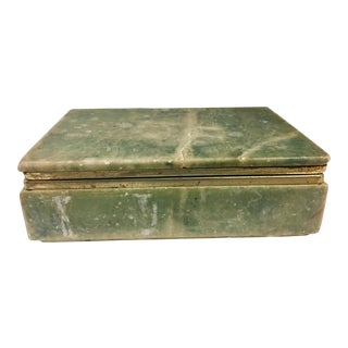 Vintage Green Marble Box For Sale