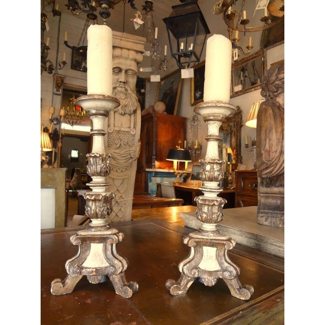 19th Century Italian Candle Holder, Pair For Sale - Image 10 of 10