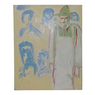 "Arthur J. Krakower ""The Butcher on Featherbed Road"" Oil on Canvas c.2000 For Sale"