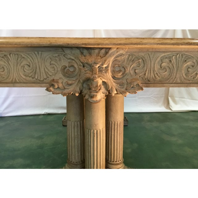 19th C. Carved Bacchus Mahogany Table For Sale - Image 5 of 13
