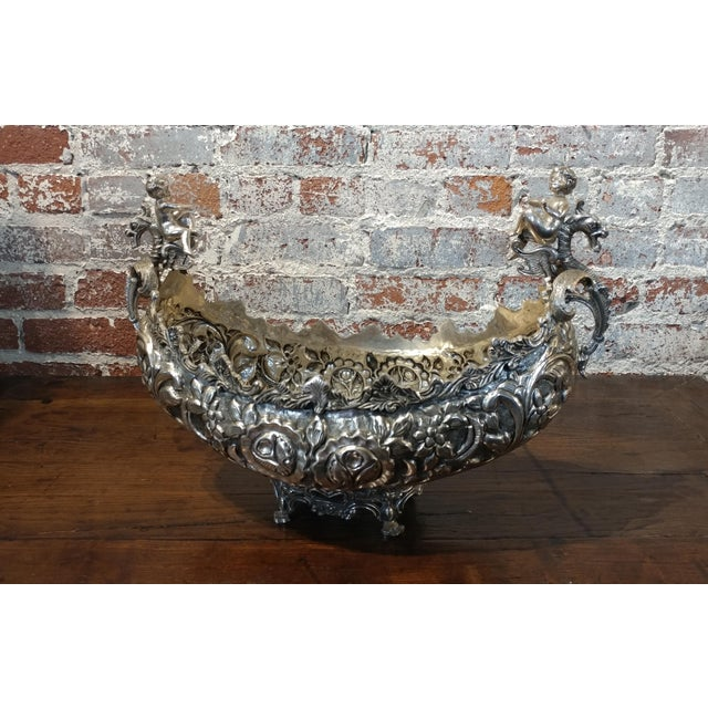 Gondola Center Piece With Cherubs & Dragons For Sale - Image 10 of 10