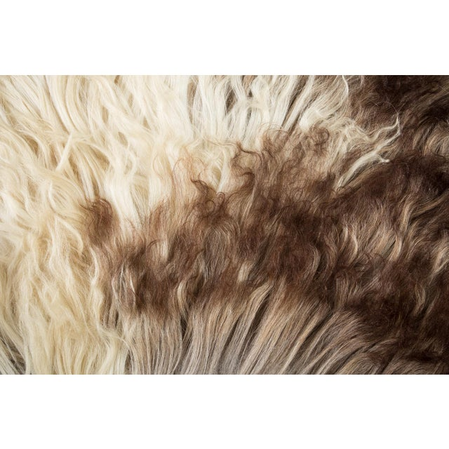 """Contemporary Natural Sheepskin Pelt - 2'0""""x3'0"""" For Sale In Chicago - Image 6 of 8"""
