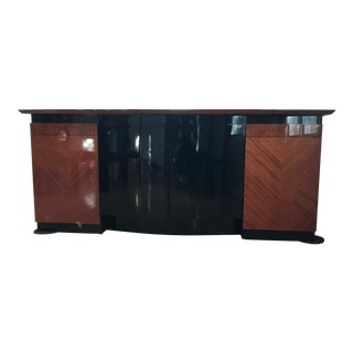 Babinga Contemporary Wood Credenza For Sale