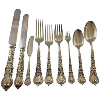 Florentine by Tiffany & Co Sterling Silver Flatware Set for 12 Service 160 Pieces For Sale