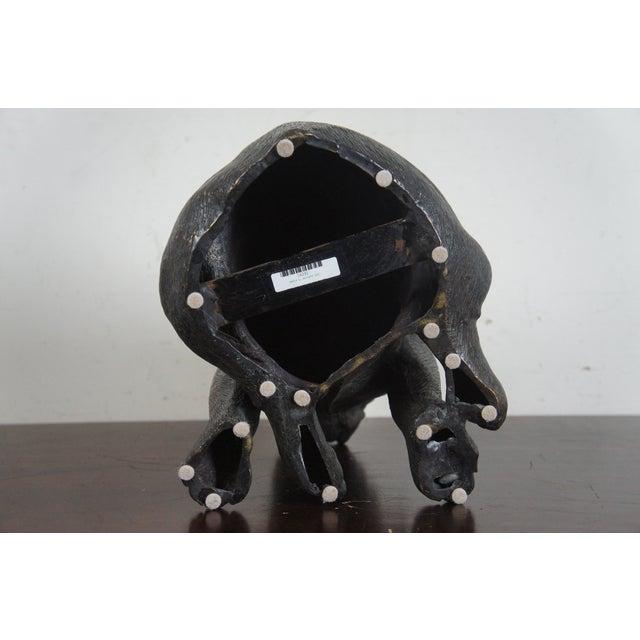 Theodore Alexander Seated British Bulldog Pug Dog Bronze Sculpture For Sale - Image 6 of 11