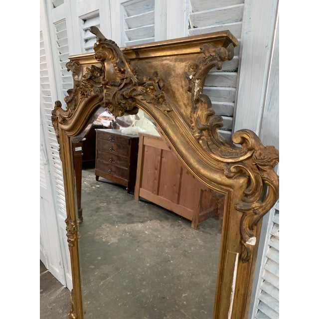 Early 18th Century 18th Century Grand Napoleon III Wall Mirror For Sale - Image 5 of 11