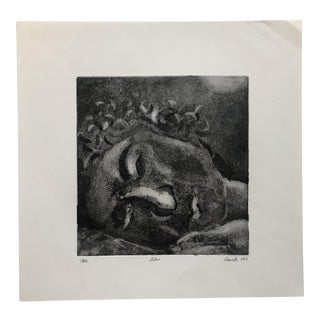 """Diane"" Etching & Aquatint by Jon Fasanelli-Cawelti, 1983 For Sale"